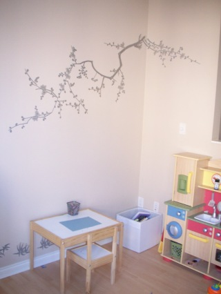 Before: kids playroom/craft area