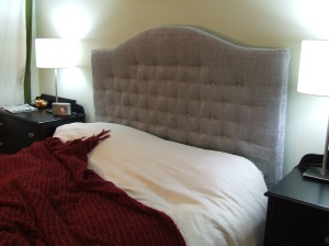 My first international headboard. The super tufted ones were popular.