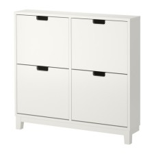 I plan on getting something similar to this ikea cabinet custom built to fit in our entryway and serve as shoe storage.