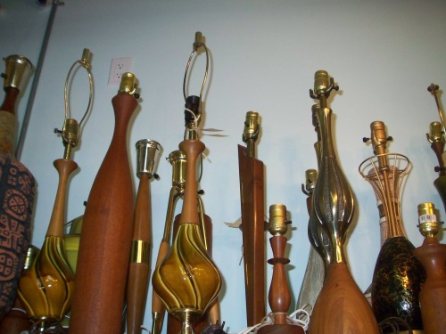 I love the selection of unique teak lamps.