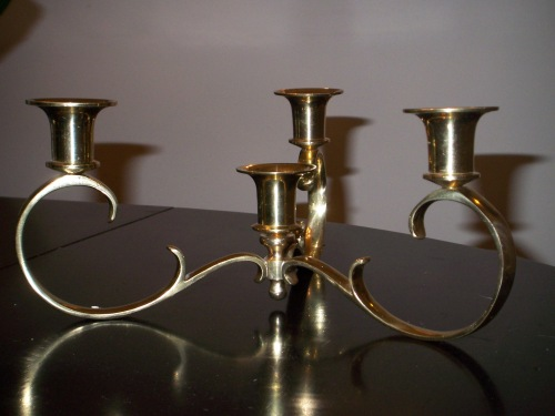I plan on painting this brass candelabra a bright high gloss colour.