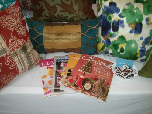 I was also selling a small variety of craft and sewing books.