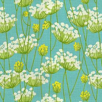 This lovely from hgtv's fabric collection reminds me of summer walks along the river.