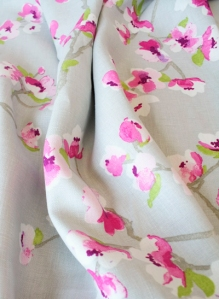 Subtle and feminine, if you are willing to commit, this fabric would make lovely drapes.