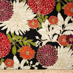 The black background adds elegance to this beauty. Sold for $15 at fabric.com
