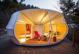 I'm not sure if you can even call this a tent but I'm sure it is the epitomy of glamping.
