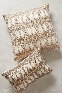 Cheater metal mix with anthropologie's gold sequined pillows.