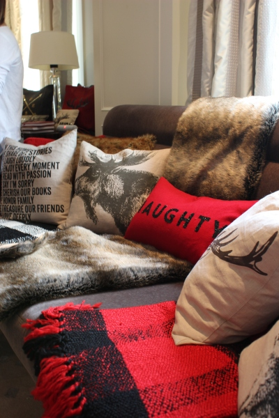 "It's not my style but I still appreciate the sleek softness of Indigo's new faux fur collection and well as the texture and graphics of their ""Christmas at the Cabin"" collection."