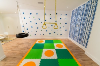 Recently saw this indoor climbing wall on Leave It to Bryan. Not for the faint of heart but what little boy wouldn't love to be able to climb his walls? Check out Ebay for some killer prices.