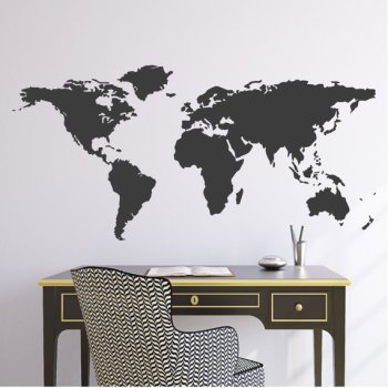 Wall decals can be expensive but you search you can find ones for under $50 on Etsy or at stores like Lowes.